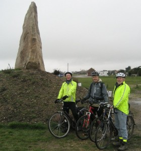 David Willetts & Cycle Hayling inspect the COPP memorial