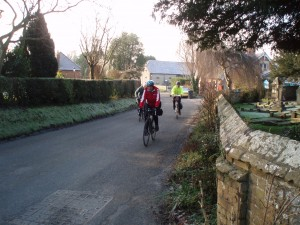 Cycling Past Blendworth Church