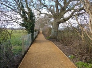 New surface on Footpath 88