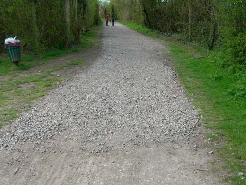 Resurfacing at the South end of the Billy Trail